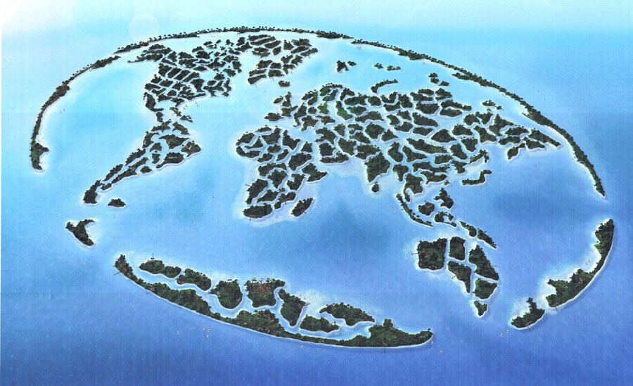 World Map Island Dubai